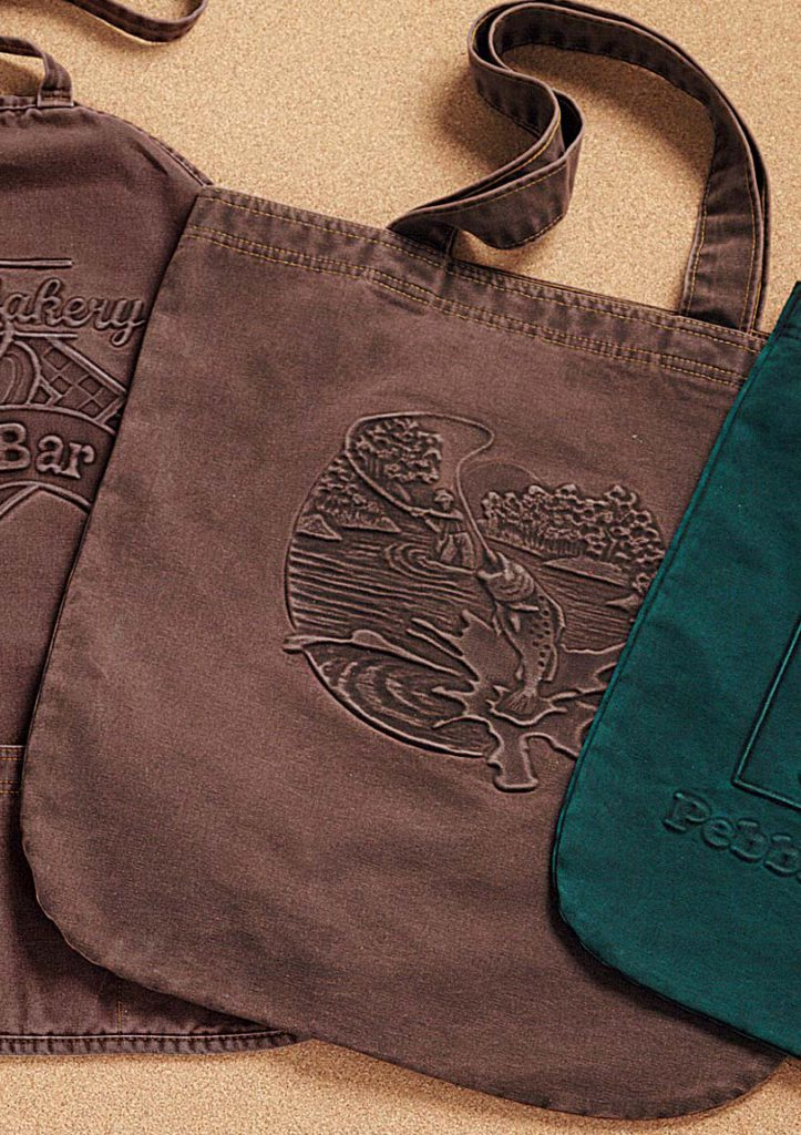 Embossed Canvas Tote Bags