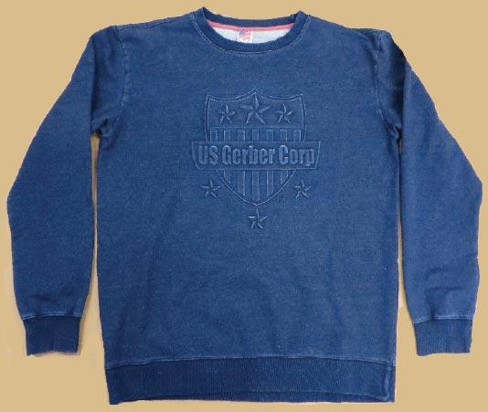 Drenched Indigo Embossed Sweatshirt