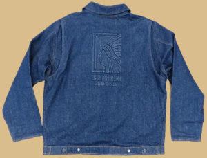 Embossed Denim Work Jacket - Back