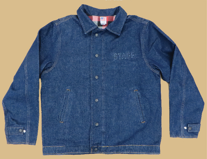 Embossed Denim Work Jacket - Front